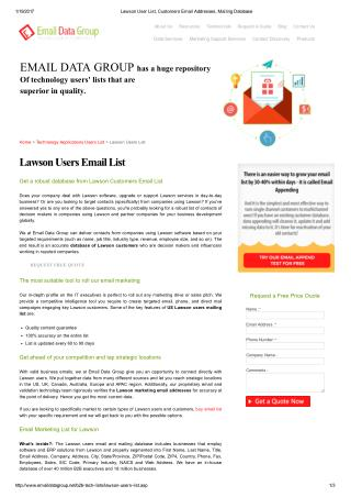 Lawson Users Email Directory