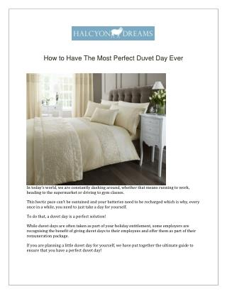 How to Have The Most Perfect Duvet Day Ever!