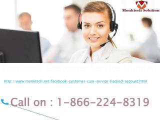 Get quick Solution Just Dial 1-866-224-8319 Facebook Customer Service  Number