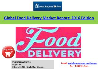 Takeaway Food Delivery Market Analysis