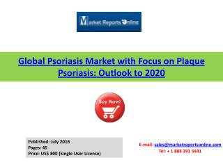 2020 Psoriasis Market with Focus on Plaque Psoriasis
