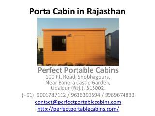 Porta Cabin in Rajasthan