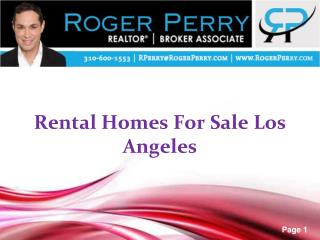 Rental Homes For Sale Los Angeles