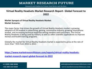 Virtual Reality Headsets Market Research Report