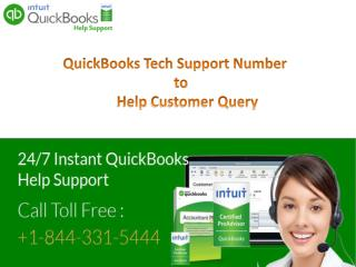 Quickbooks Customer Service  1-844-331-5444