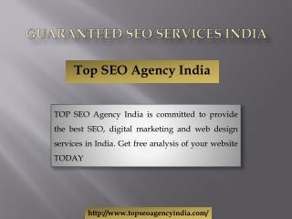 Guaranteed SEO Services India
