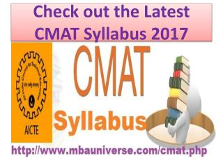 Check out the Latest CMAT Syllabus 2017