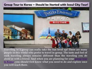 Group tour to Korea