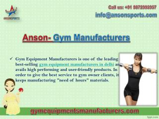 Gym Equipment Manufacturers in Delhi Offers High Performing Fitness Products