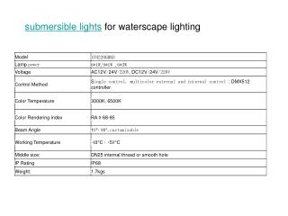 submersible lights for fountain