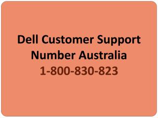 Dell Help Australia | Dell Support Number 1-800-830-823