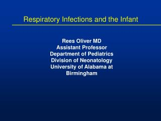 Respiratory Infections and the Infant