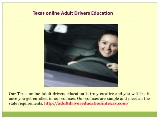 Approved Online Adult Drivers ed