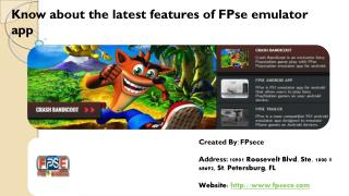 Know about the latest features of FPse Emulator App