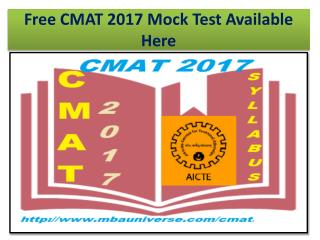 Free CMAT 2017 Mock Test Available Here