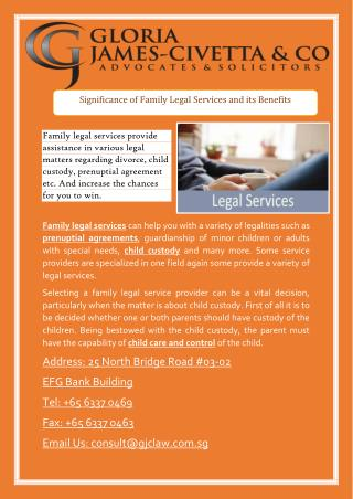 Significance of Family Legal Services and its Benefits