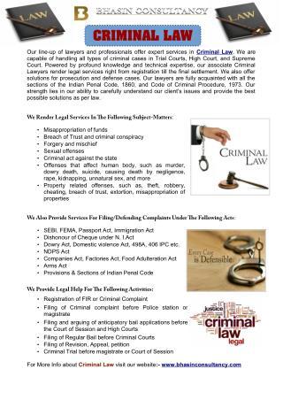 Criminal Law Office In Delhi
