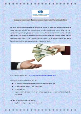 Getting an Unsecured Business Loan is Easier with These Simple Steps