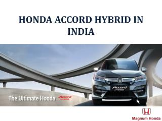 2017 New Honda Accord Hybrid Launched in India