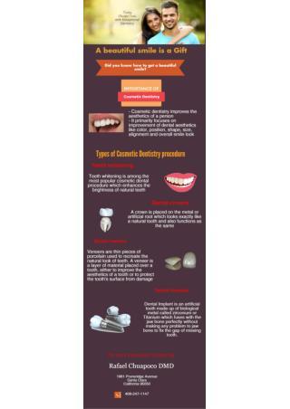 Cosmetic Dentistry Sanat Clara CA by Cosmetic Dentist Dr. Chuapoco