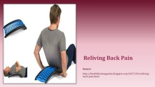 Reliving Back Pain