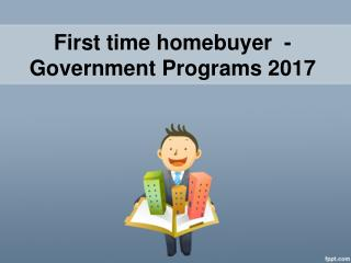 Government Homes Buyer Program For First Time Home Buyer