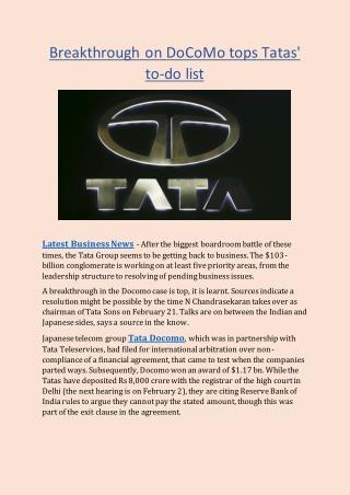 Breakthrough on DoCoMo tops Tatas' to-do list