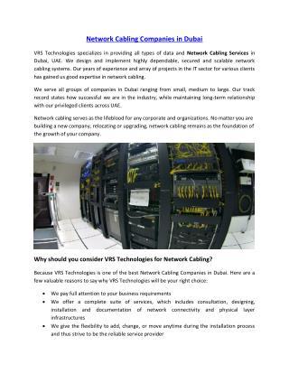 Network Cabling Companies in Dubai