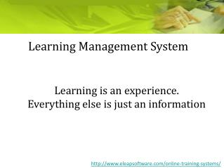 Learning Management System | Online LMS | eLearning Training