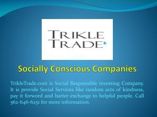 Socially Conscious Companies