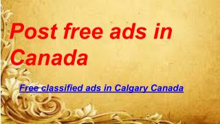 Post free ads in Canada