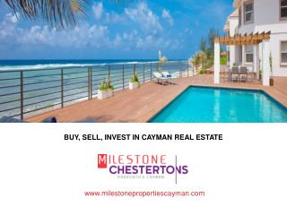 Buy property in the Cayman Islands with Milestone Properties