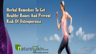 Herbal Remedies To Get Healthy Bones And Prevent Risk Of Osteoporosis