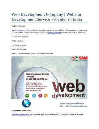 Web Development Company | Website Development Service Provider in India