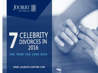 Top 7 Celebrity Divorces in 2016
