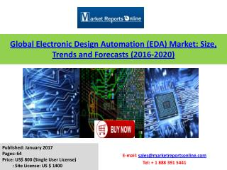 Global Electronic Design Automation Market Growth Analysis and 2020 Forecasts
