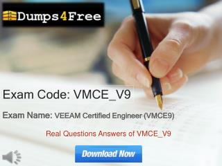 Dumps4free VMCE-V9 Exam Questions Answers