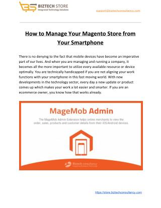 How to Manage Your Magento Store from Your Smartphone