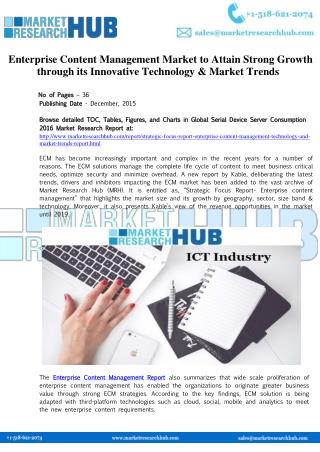 Enterprise Content Management Market Research Report