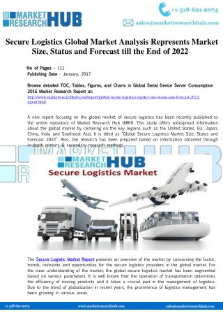 Secure Logistics Market Analysis Report