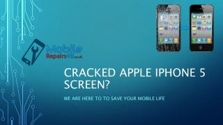 Best Apple iPhone 5 Repair Services from MobileRepairs4U