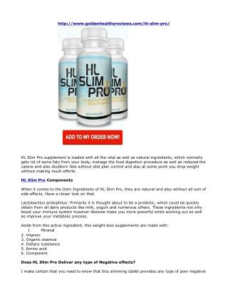 HL Slim Pro Reviews- Lead Your Body To Lean And Attractive Shape