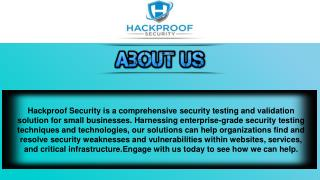 Hackproof-Commerce Supports