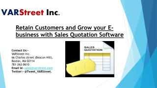 Retain Customers and Grow your E-business with Sales Quotation Software