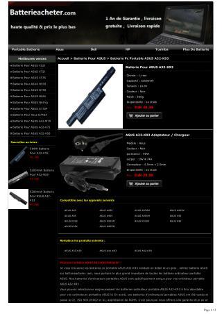 Batterie Pour ASUS A32-K93