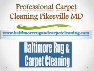 Professional Carpet Cleaning Pikesville MD