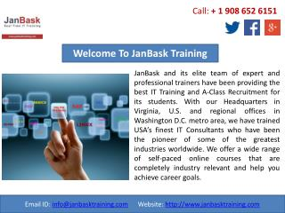 JanBask Training Gives a High Level of Online IT Training