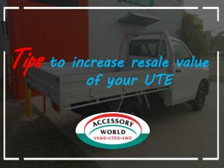 Tips to Increase Resale Value of Your UTE