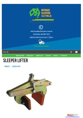 Sleeper Lifter | Install Sleepers | Retaining Walls Adelaide