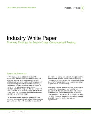 Industry White Paper - Prometric